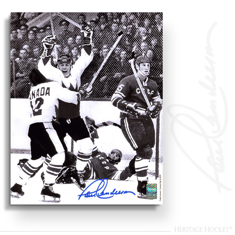 PAUL HENDERSON AUTOGRAPHED SIGNED GAME 8 WINNING GOAL 8X10 PHOTO - TEAM CANADA 1972