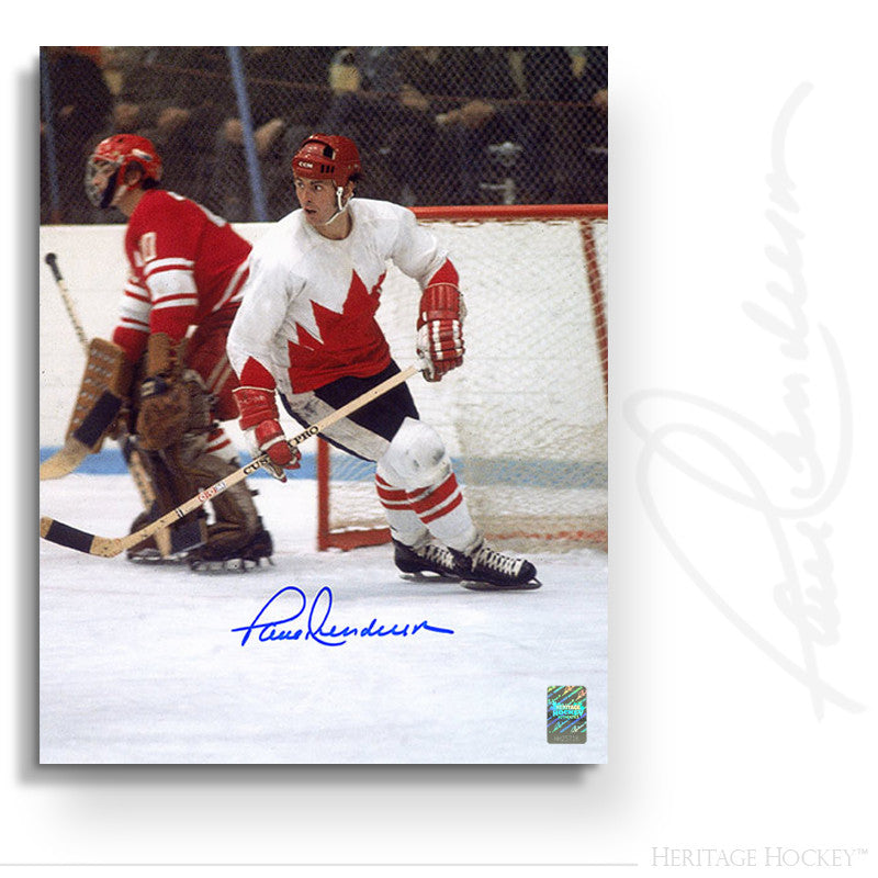 PAUL HENDERSON AUTOGRAPHED SIGNED 1972 SUMMIT SERIES ACTION 8X10 PHOTO - TEAM CANADA 1972