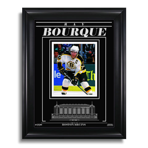 Ray Bourque Boston Bruins Engraved Framed Photo - Focus