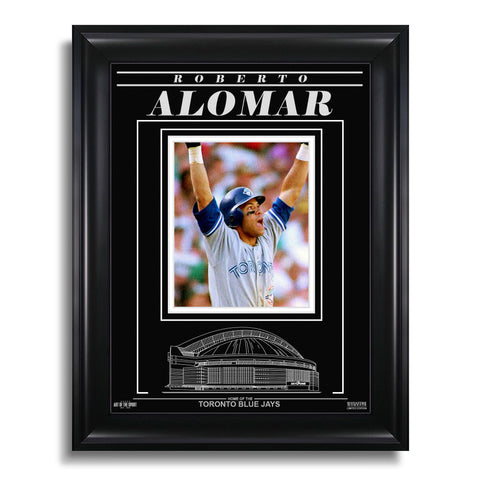 Roberto Alomar Toronto Blue Jays Engraved Framed Photo - 1992 ALCS Home Run