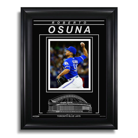 Roberto Osuna Toronto Blue Jays Engraved Framed Photo - Action Pitch