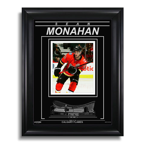 Sean Monahan Calgary Flames Engraved Framed Photo - Closeup