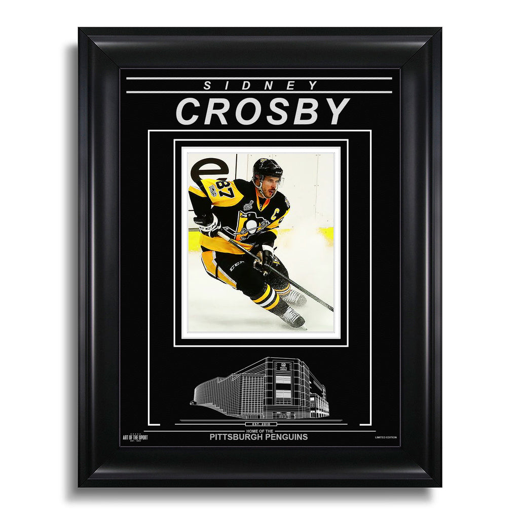 Sidney Crosby Pittsburgh Penguins Engraved Framed Photo - Action Stop
