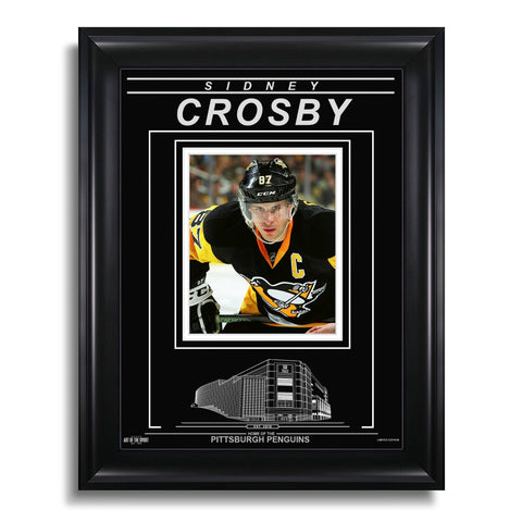 Sidney Crosby Pittsburgh Penguins Engraved Framed Photo - Closeup