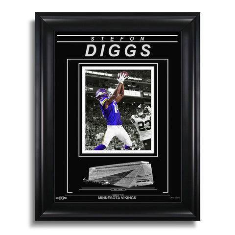 Stefon Diggs Minnesota Vikings Engraved Framed Photo - Action Catch