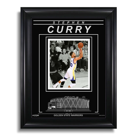 Stephen Curry Golden State Warriors Engraved Framed Photo - Action Spotlight