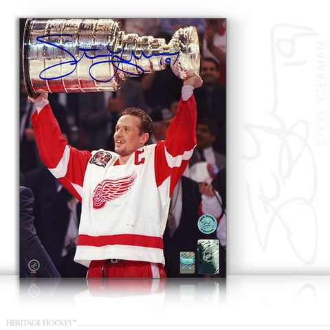 STEVE YZERMAN AUTOGRAPHED SIGNED 1997 STANLEY CUP 8X10 PHOTO - DETROIT RED WINGS
