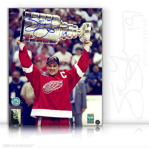 STEVE YZERMAN AUTOGRAPHED SIGNED 1998 STANLEY CUP 8X10 PHOTO - DETROIT RED WINGS