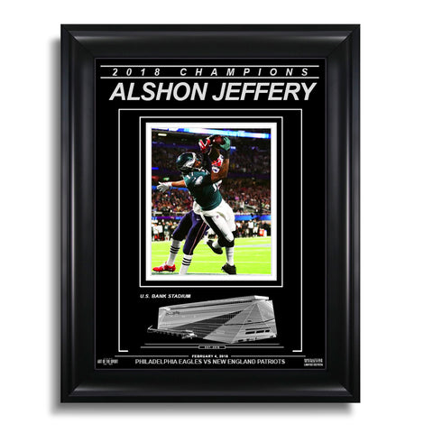 Alshon Jeffery Philadelphia Eagles Super Bowl LII Champions Engraved Framed Photo