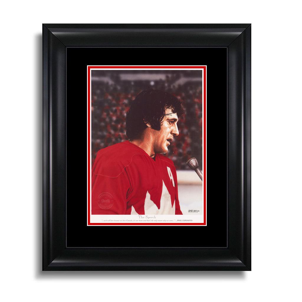 The Speech – Phil Esposito 9 x 11 Legends Series Print