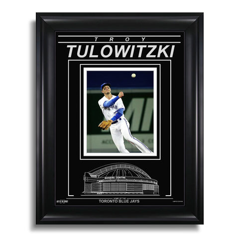 Troy Tulowitzki Toronto Blue Jays Engraved Framed Photo - Action Throw