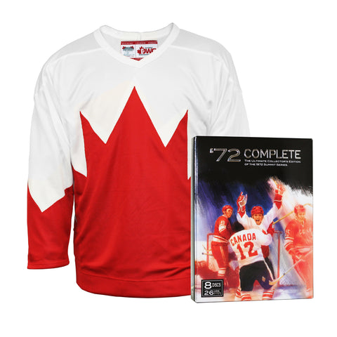 Team Canada 1972 Jersey With Bonus 8-Disc DVD set