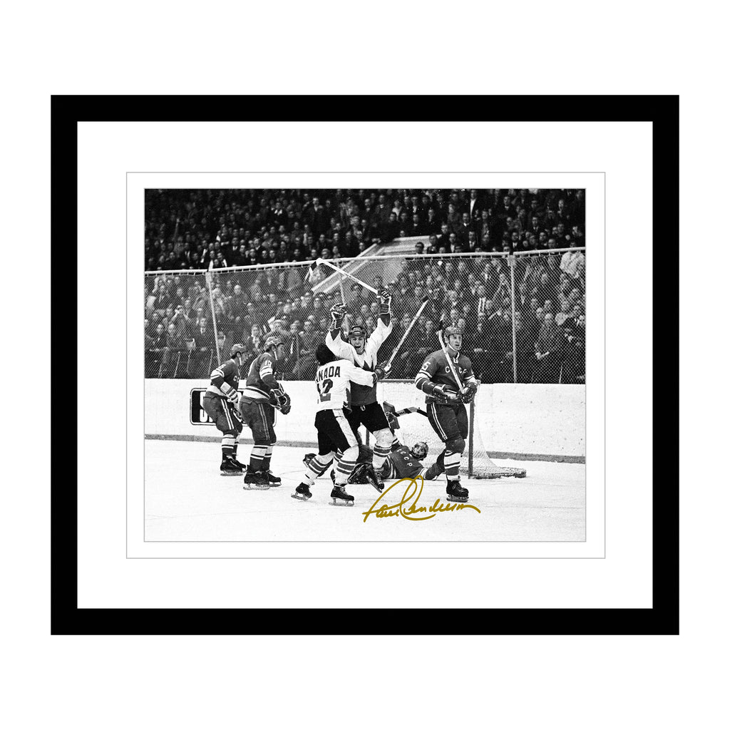 The Goal of the Century 16x20 B/W Photo Signed by Paul Henderson