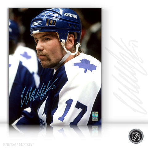 WENDEL CLARK AUTOGRAPHED SIGNED BENCH STARE 8X10 PHOTO - TORONTO MAPLE LEAFS