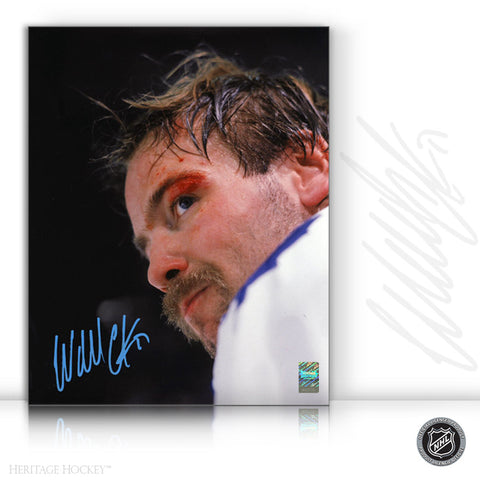 WENDEL CLARK AUTOGRAPHED SIGNED BLOODY WARRIOR 11X14 PHOTO - TORONTO MAPLE LEAFS