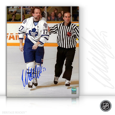 WENDEL CLARK AUTOGRAPHED SIGNED CAPTAIN CRUNCH 8X10 PHOTO - TORONTO MAPLE LEAFS