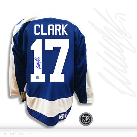 WENDEL CLARK AUTOGRAPHED SIGNED TORONTO MAPLE LEAFS CCM VINTAGE JERSEY
