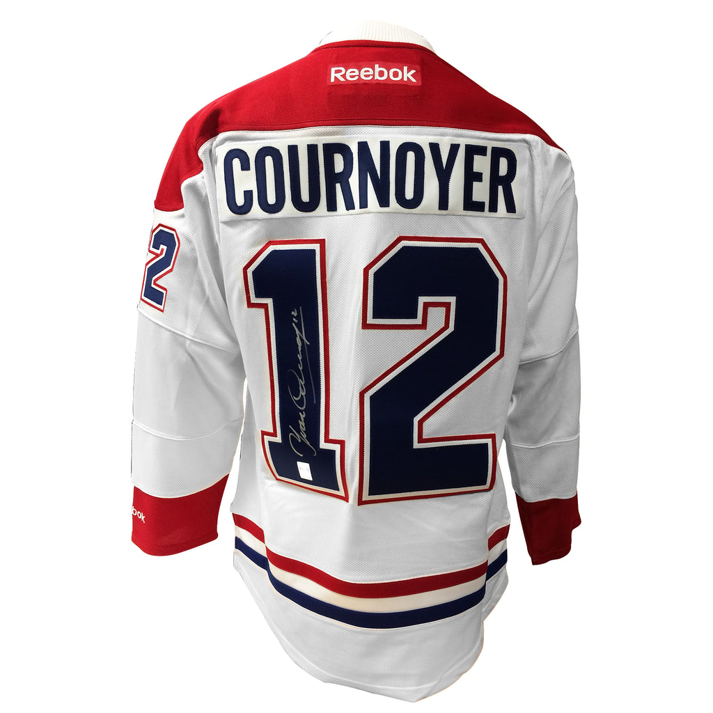 Yvan Cournoyer Signed Montreal Canadiens Jersey