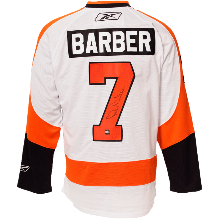 Bill Barber Signed Philadelphia Flyers Jersey