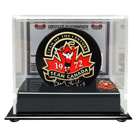 Bill White Signed Team Canada '72 Puck - Heritage Hockey™