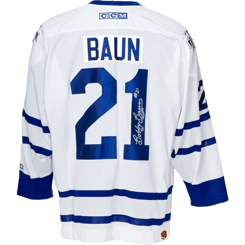 Bobby Baun Signed Toronto Maple Leafs Jersey