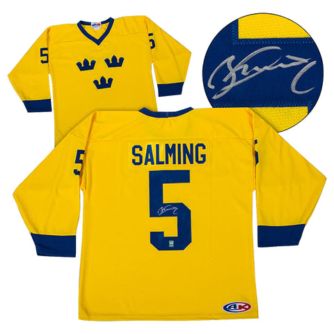 Börje Salming Signed Team Sweden Jersey