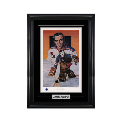 Ed Giacomin Signed New York Rangers Limited Edition Print