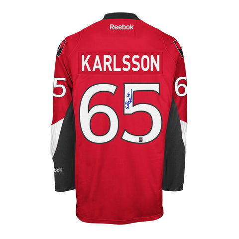 Erik Karlsson Signed Ottawa Senators Home Jersey