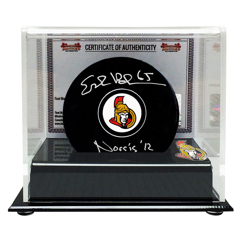 Erik Karlsson Signed Ottawa Senators Puck With Norris '12 Note