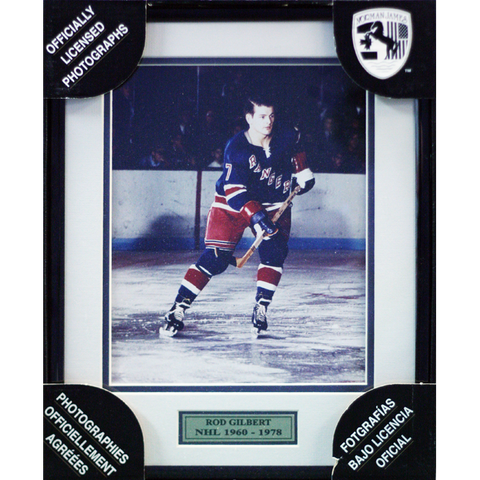 Rod Gilbert New York Rangers Framed Colour Photo