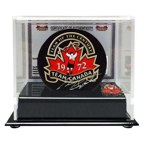 Guy Lapointe Signed Team Canada 1972 Puck