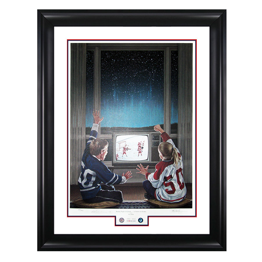 Hockey Night in Canada Limited Edition Framed Print Signed by Paul Henderson