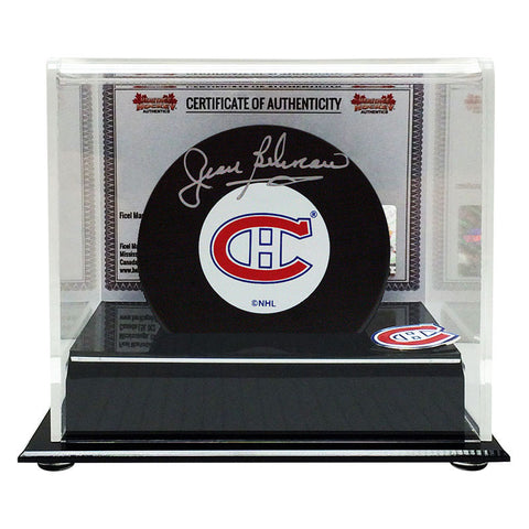 Jean Beliveau Signed Montreal Canadiens Puck