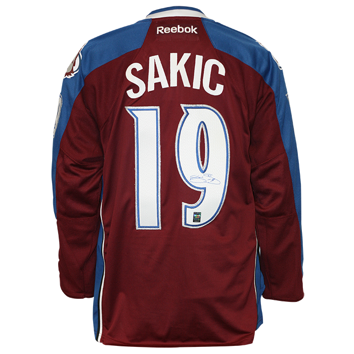 Joe Sakic Signed Colorado Avalanche Jersey