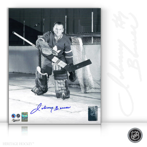 JOHNNY BOWER AUTOGRAPHED SIGNED TORONTO MAPLE LEAFS 8X10 PHOTO - ACTION SAVE