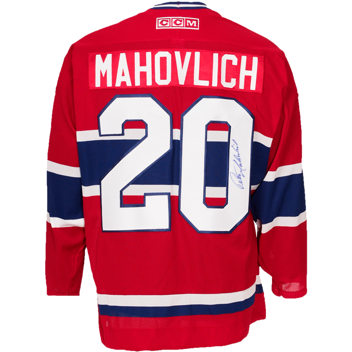 Peter Mahovlich Signed Montreal Canadiens CCM Jersey