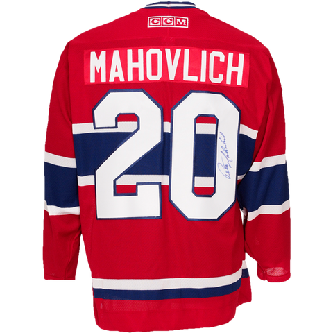 Peter Mahovlich Signed Montreal Canadiens Jersey
