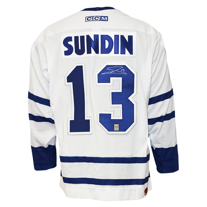 new product fa361 8bc92 Mats Sundin Signed Toronto Maple Leafs Jersey