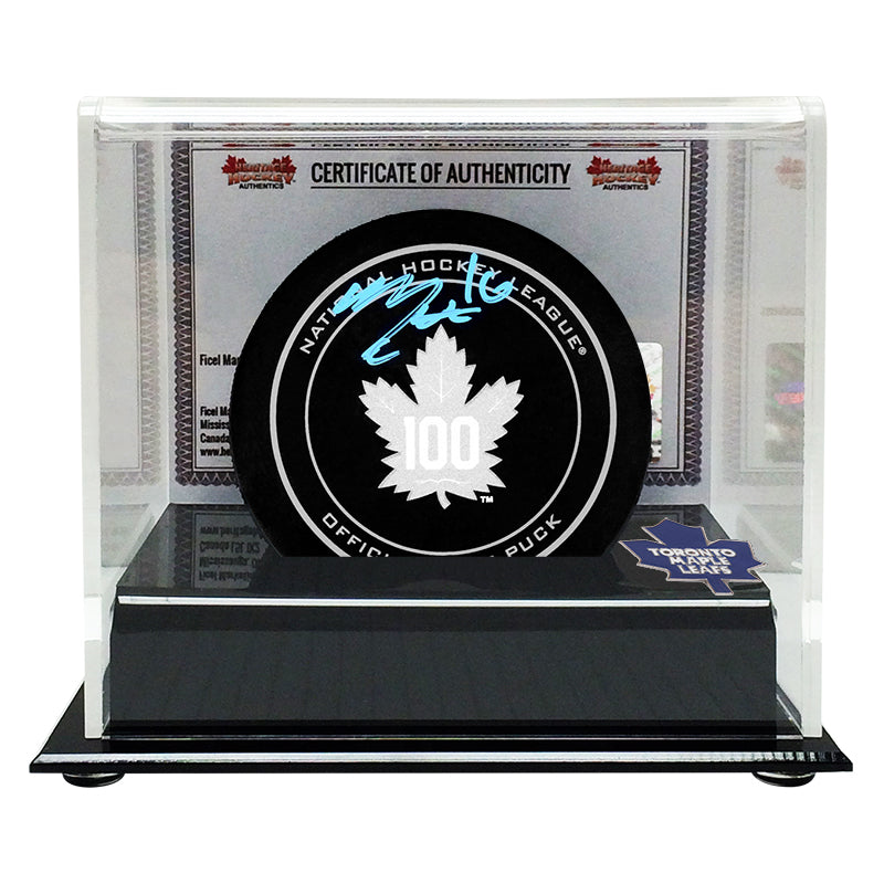 Mitch Marner Signed Toronto Maple Leafs Centennial Puck