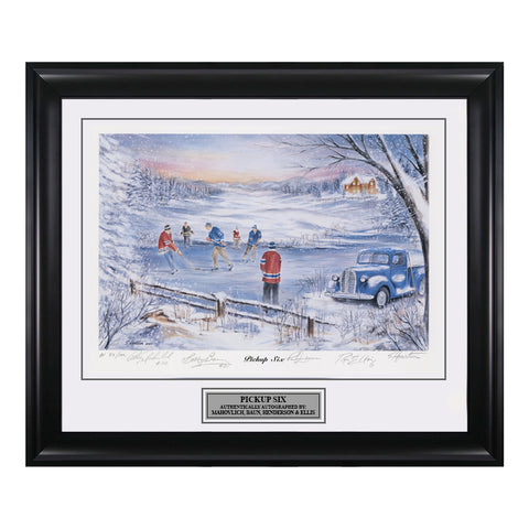 Pickup Six – Peter Mahovlich, Bobby Baun, Ron Ellis & Paul Henderson Signed Limited Edition Print