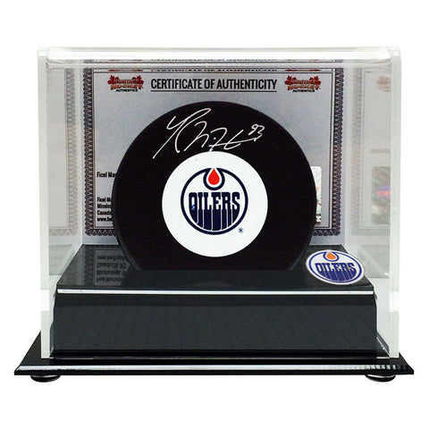 Ryan Nugent-Hopkins Signed Edmonton Oilers Puck