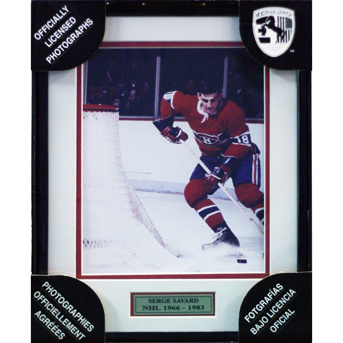 Serge Savard Montreal Canadiens Framed Colour Photo