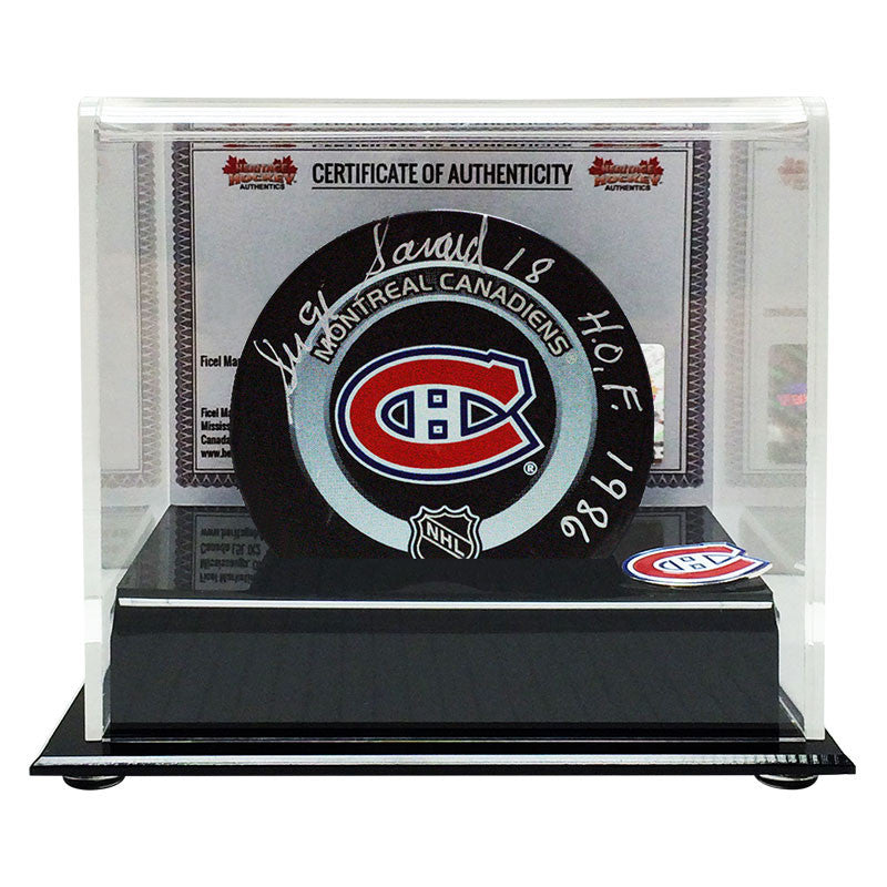 Serge Savard Signed Montreal Canadiens Puck