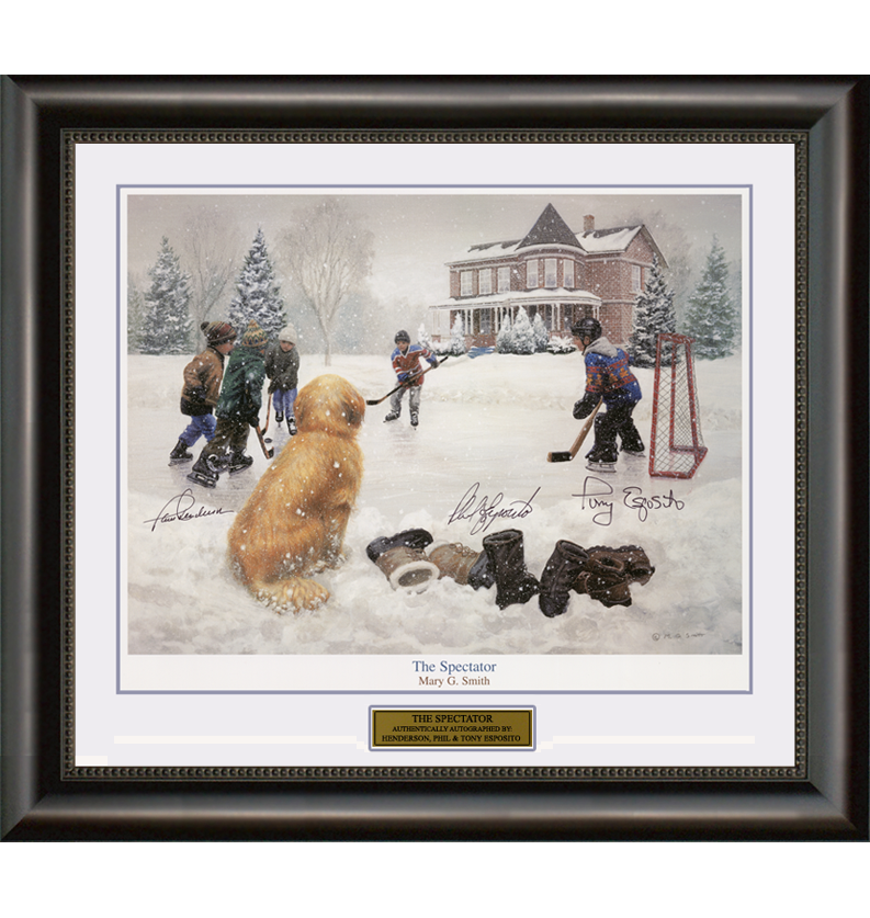 The Spectator – Paul Henderson, Phil Esposito & Tony Esposito Signed Print