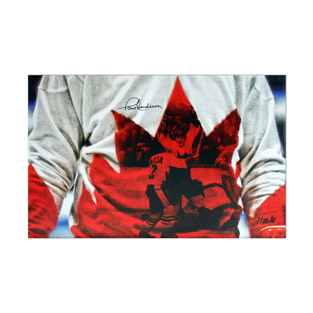 Team Canada 1972 Limited Edition (AP) 11x14 Canvas Print Signed by Paul Henderson