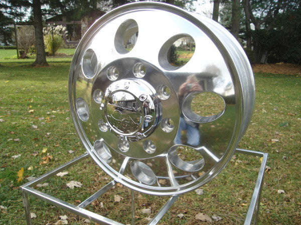16x6 Dually Wheels - Polished (Alcoa style )  - FORD '99-2004 ONLY - SET OF 4
