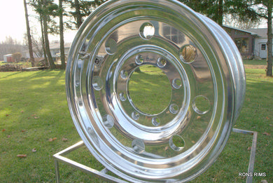16x7 ALCOA Trailer Wheel - Full Polished 8 on 6.5 - rons-rims-inc