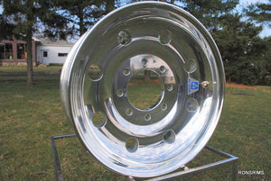 17.5x6.75 ALCOA Trailer Wheel - Polished 8 on 6.5 - rons-rims-inc