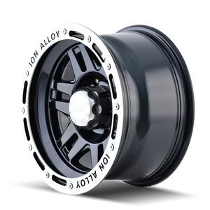 ION 133 BLACK/MACHINED LIP - rons-rims-inc