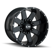 Load image into Gallery viewer, ION 141 GLOSS BLACK/MILLED SPOKES - rons-rims-inc